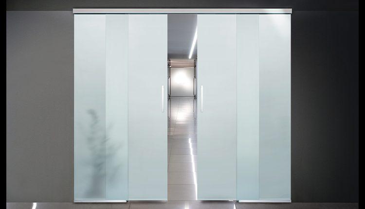 Il Sistema scorrevole Slim per porte vetrate