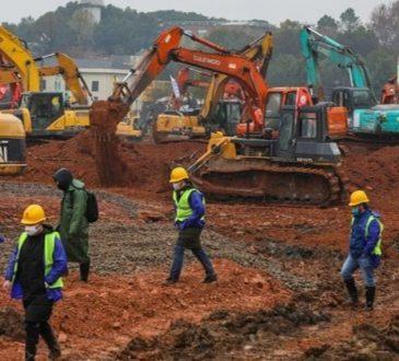 Coronavirus: la Cina sta costruendo un ospedale in 6 giorni